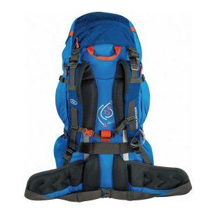 Highlander Ben Nevis 85L Rugzak blauw achterkant